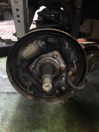 ekワゴン リヤブレーキ ホイルシリンダー修理