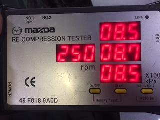 RX-8 圧縮圧力 測定
