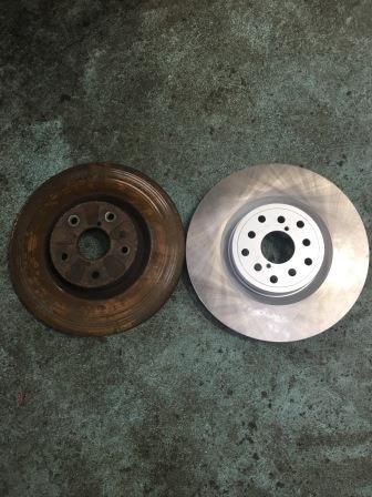 スバル インプレッサGRB ブレーキローター交換