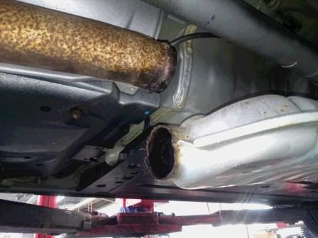 レガシィB4 BL5 センターパイプ 溶接修理