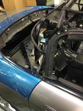 「ホンダ」S2000 AP1 ソフトトップ交換 その2