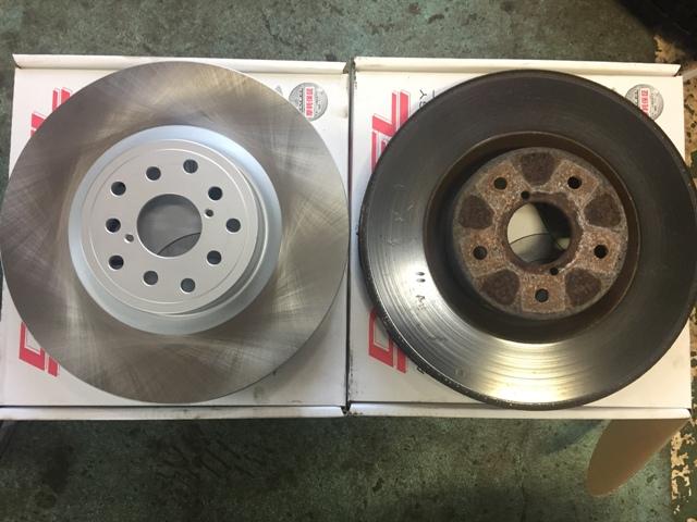 GRBインプレッサ ブレーキパッドローター交換