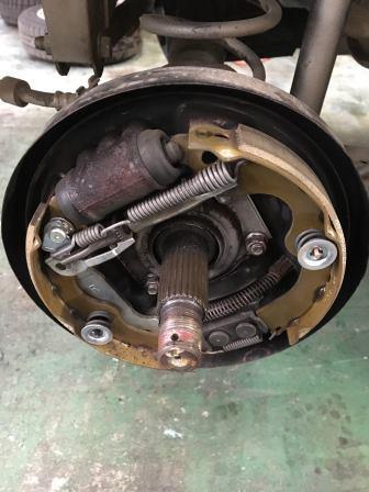 ニッサン オッティH92W リヤブレーキオイル漏れ修理