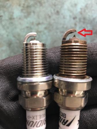 スバル レガシィBE5 スパークプラグ交換