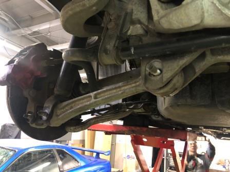 ランサーエボリューション8 CT9A リヤトレーリングアームブーツ交換