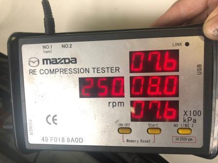 RX7 FD3S 圧縮点検