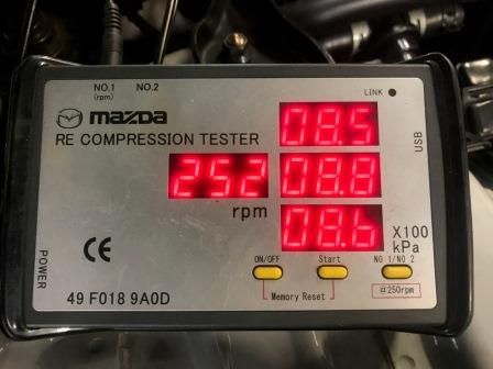 GTNET札幌 RX-7 4型 FD3S 圧縮計測