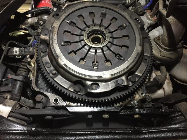 RX-7 FD3Sエンジンリアシールオイル漏れ修理