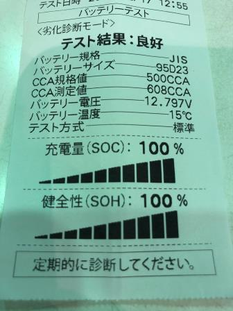 GTNET札幌 バッテリー点検