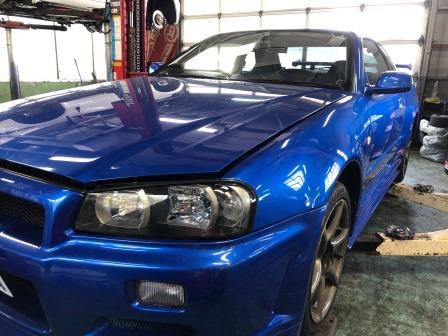 GTNET札幌 スカイラインGT-R BNR34 車高調取付け