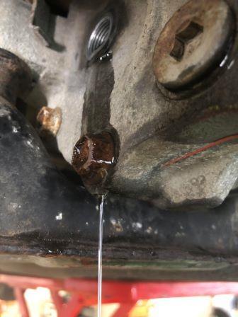GTNET札幌 プレミオ リヤデフオイル漏れ修理