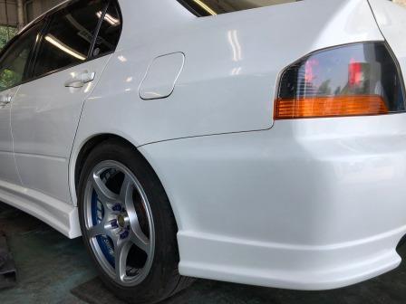 GTNET札幌 ランサーエボリューション9 TEIN車高調取付け