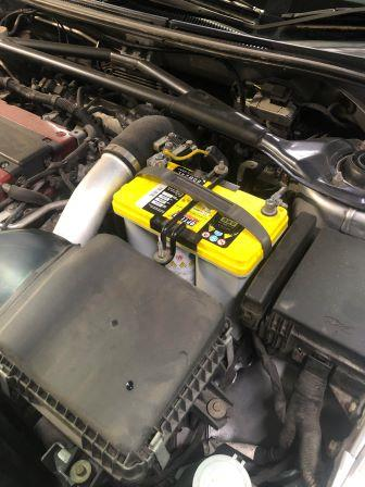 GTNET札幌 ランサーエボリューション9MR OPTIMAバッテリー交換